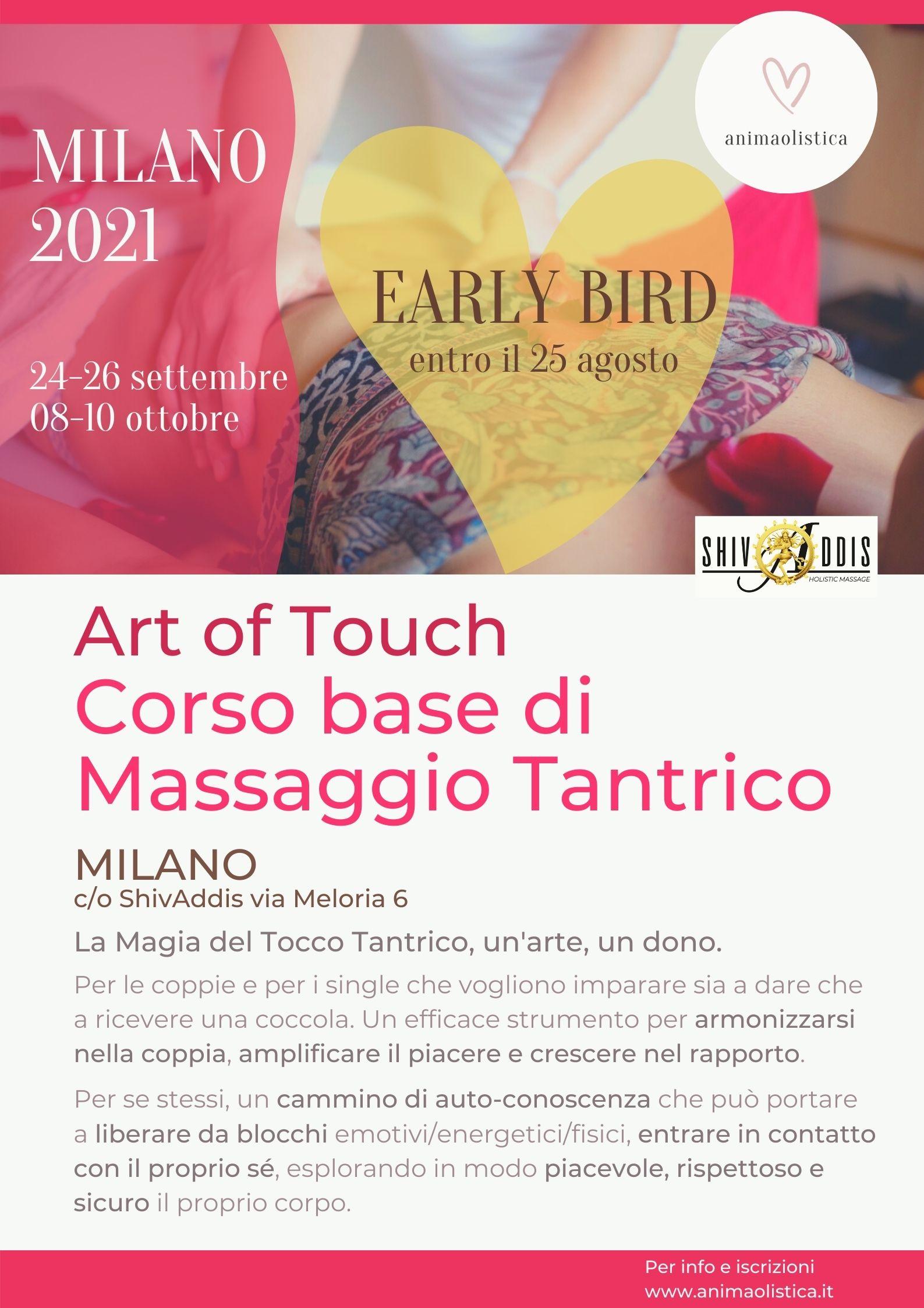 Corso di Massaggio Tantrico Milano 2021